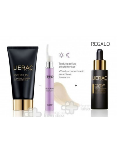 LIERAC PACK PREMIUM MASCARILLA 75 ML + LIFT INTEGRAL CONTORNO DE OJOS 15 ML REGALO PREMIUM SERUM 30