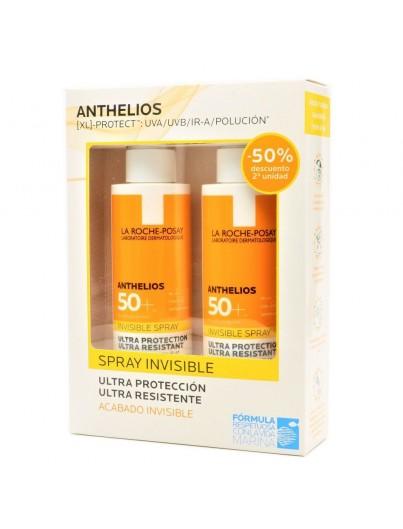 LA ROCHE POSAY ANTHELIOS 50+ SPRAY INVISIBLE 200 ML DUPLO SEGUNDA UNIDAD 50%