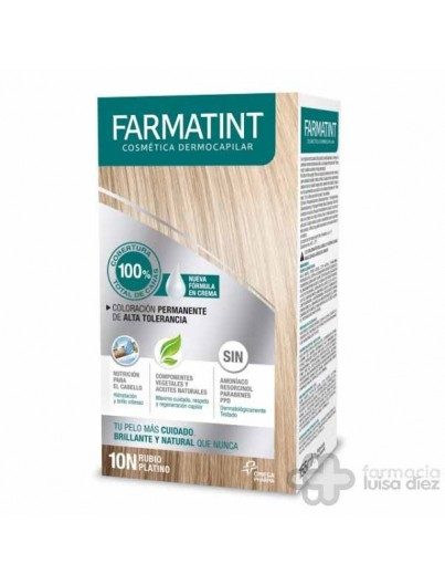 FARMATINT 135 ML RUBIO PLATINO 10N CREMA