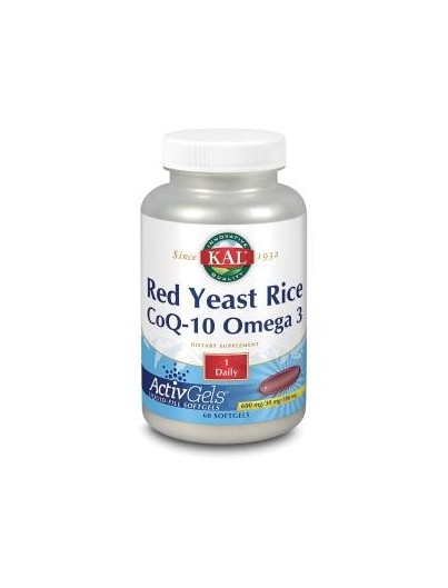 KAL RED RICE Q10 OMEGA 3 60 PERLAS