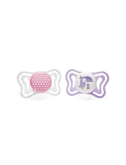CHICCO CHUPETE PHYSIOFORMA LIGHT 2 - 6 MESES 2 UNIDADES ROSA