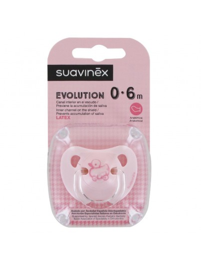 CHUPO SUAVINEX EVOLUTION LATEX 0/6M ROSA