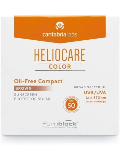 HELIOCARE COLOR COMPACTO OIL FREE SPF50 TONO BROWN