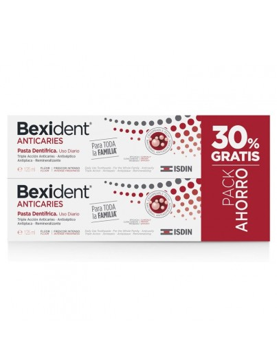BEXIDENT ANTICARIES PASTA DENTIFRICA 2 X 125 ML