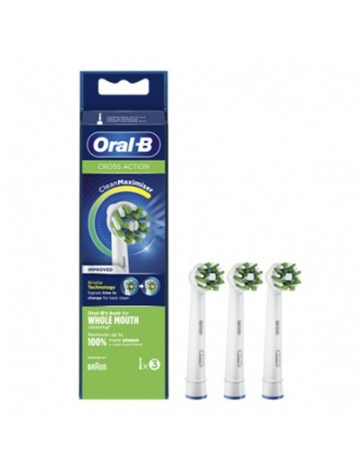 ORAL B RECAMBIO CEPILLO ELECTRICO CROSS ACTION EB50-3 3 UNIDADES
