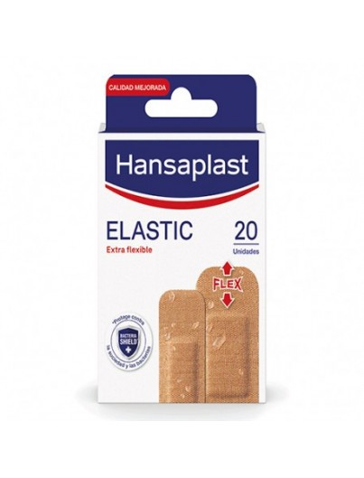 HANSAPLAST ELASTIC APOSITO ADHESIVO 2 TAMA?OS 20 STRIPS