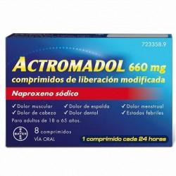 ACTROMADOL 660 mg 8 COMPRIMIDOS LIBERACION MODIFICADA