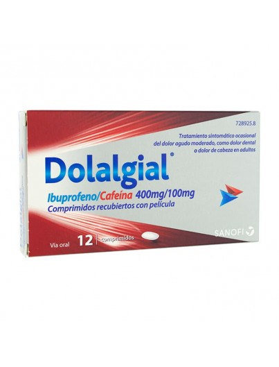 DOLALGIAL IBUPROFENO/CAFEINA 400 mg/100 mg 12 COMPRIMIDOS RECUBIERTOS