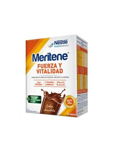 MERITENE FUERZA Y VITALIDAD ADULTO CHOCOLATE 15 SOBRES X 30 GRAMOS