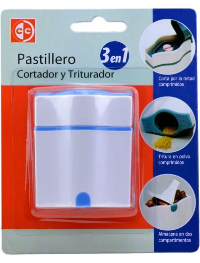 PASTILLERO CORTADOR Y TRITUTADOR 3 EN 1