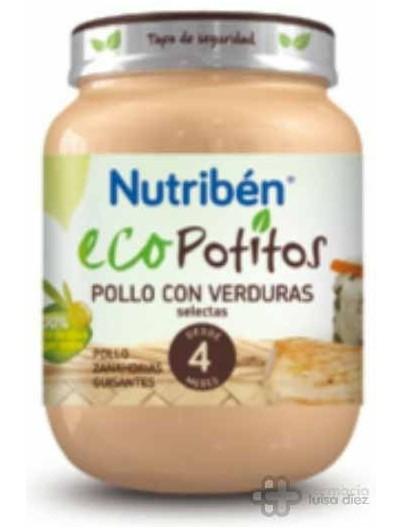 NUTRIBEN ECO POLLO CON VERDURAS SELECTAS POTITO JUNIOR 200 G