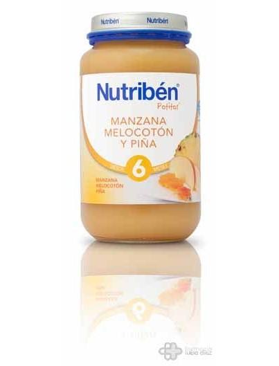 NUTRIBEN MANZANA MELOCOTON Y PIÑA 250 G GRANDOTE