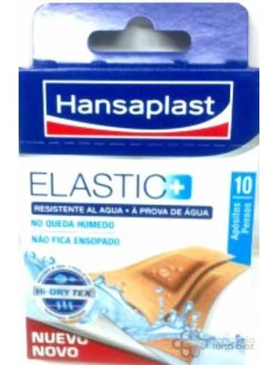 TIRITAS HANSAPLAST ELASTIC TELA RESISTENTE AL AGUA 10 UNIDADES