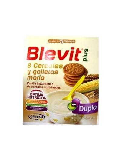 BLEVIT PLUS DUPLO 8 CEREALES Y GALLETAS 600 GRAMOS