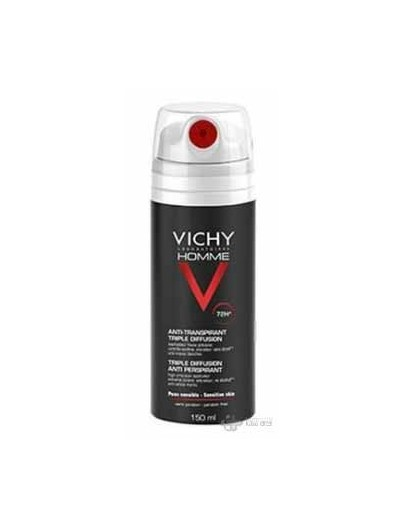VICHY HOMME ANTITRANSPIRANTE 72H TRIPLE DIFUSION 50 ML