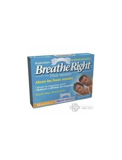 BREATHE RIGHT TRANSPARENTE TALLA GRANDE 10 UNIDADES