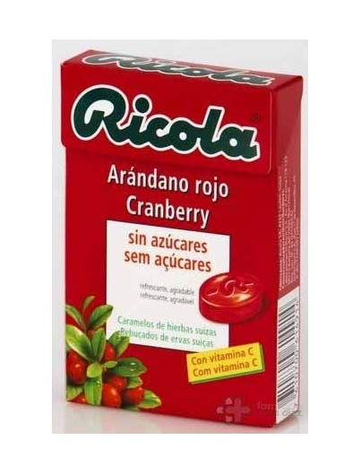CARAMELO RICOLA ARANDANO ROJO 50 GRAMOS