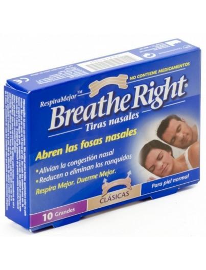 BREATHE RIGHT COLOR PIEL TALLA GRANDE 10 UNIDADES