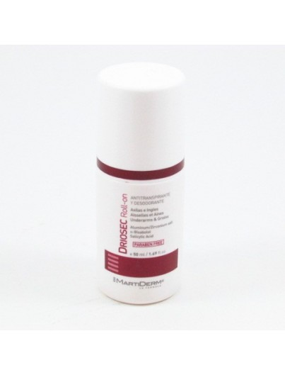 MARTIDERM DRIOSEC ROLL ON AXILAS INGLES 50 ML