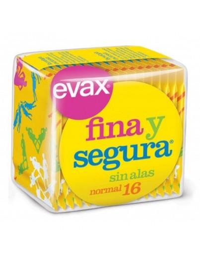 COMPRESAS EVAX FINA Y SEGURA NORMAL 16 UNIDADES
