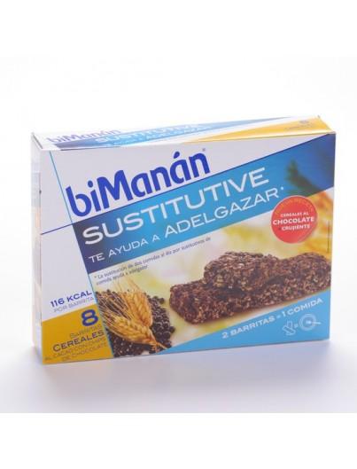 BIMANAN CEREALES CHOCOLATE 8 BARRITAS