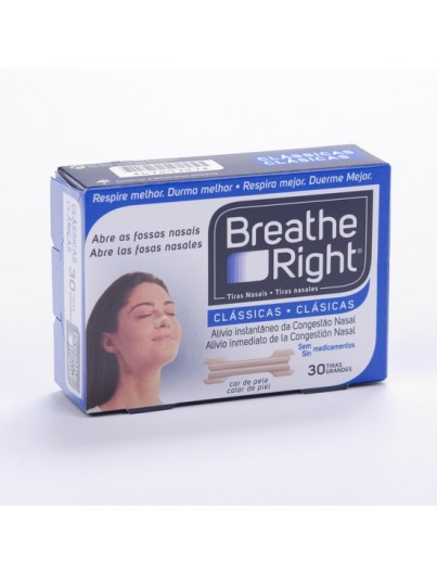 BREATHE RIGHT COLOR TALLA GRANDE 30 UNIDADES