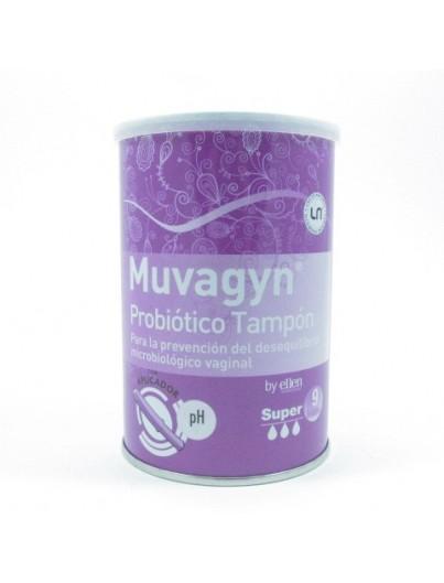 MUVAGYN PROBIOTICO TAMPON VAGINAL SUPER C/ APLICADOR 9 TAMPONES