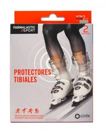 FARMALASTIC SPORT APOSITO PROTECTORES TIBIALES 2 U 7 CM X 9.5 CM