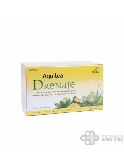 AQUILEA DRENAJE INFUSION 20 BOLSAS