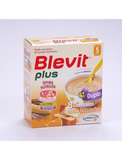 BLEVIT PLUS 8 CEREALES AL ESTILO BIZCOCHO 2 x 300 GRAMOS