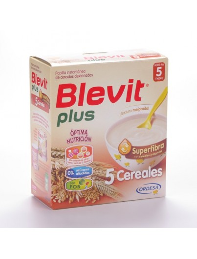 BLEVIT PLUS SUPERFIBRA 5 CEREALES 600 GRAMOS