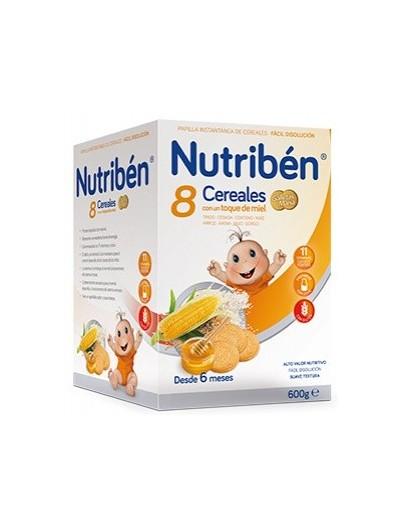 NUTRIBEN 8 CEREALES Y MIEL GALLETAS MARIA 600 GRAMOS