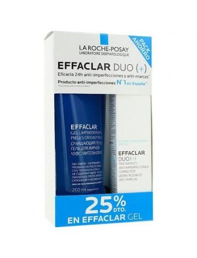 LA ROCHE POSAY PACK EFACLAR DUO 40 ML + EFFACLAR GEL 200ML + REGALO AGUA MICELAR 200 ML