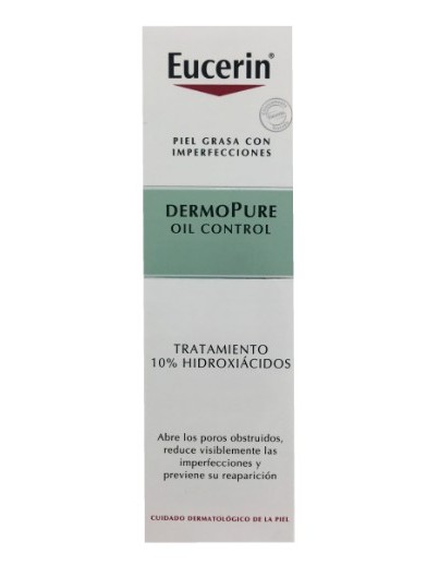 EUCERIN DERMOPURE OIL CONTROL TRATAMIENTO 10% HIDROXIÁCIADOS 40 ML