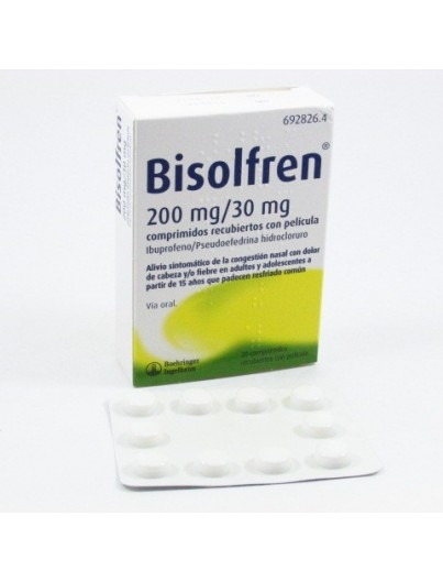 BISOLFREN 200/30 MG 20 COMP