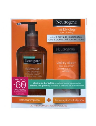 NEUTROGENA VISIBLY CLEAR PACK HIDRATANTE OIL FREE + LIMPIADOR