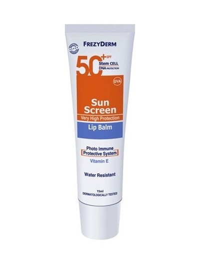 FREZYDERM SUNSCREEN LIP BALM SPF 50+ 15 ML