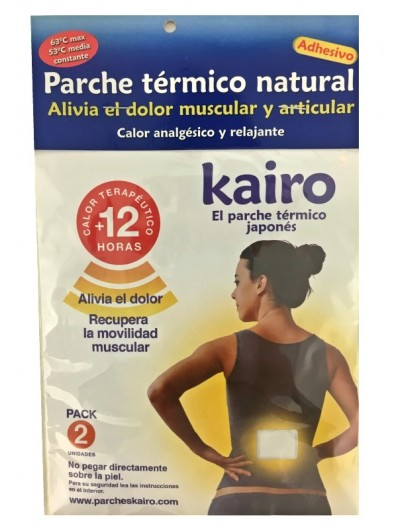 KAIRO PARCHE TERMICO NATURAL 2 UNIDADES