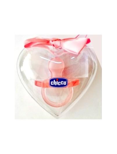 CHICCO CHUPETE TODOSILICONA LOVE (ED LIM) 0-6M ROSA/AZUL