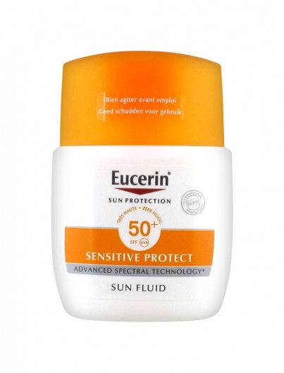 EUCERIN SUN PROTECTION SPF50+ SENSITIVE PROTECT SUN FLUID 50 ML