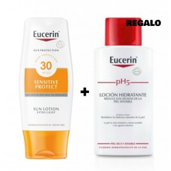 EUCERIN SUN PROTECTION SPF 30 SENSITIVE PROTECT 150 ML + REGALO PH5 LOCION HIDRATANTE 200 ML