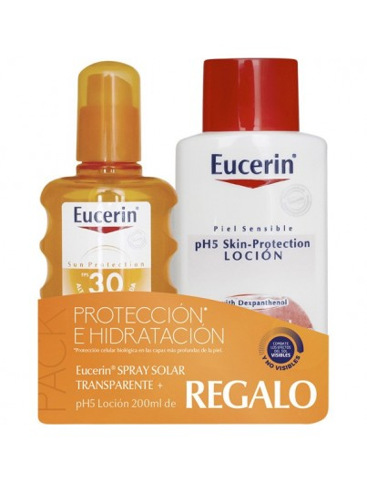 EUCERIN SUN PROTECTION SPF30 SPRAY TRANSPARENTE 200 ML + REGALO PH5 LOCION HIDRATANTE 200 ML