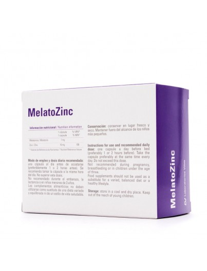 MELATOZINC 120 CAP MELATONINA 1 MG ZINC