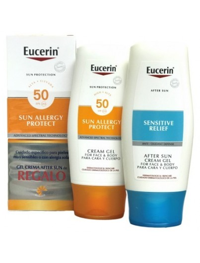 EUCERIN SUN ALLERGY PROTECT CREMA- GEL SPF50 + REGALO AFTER SUN 150 ML