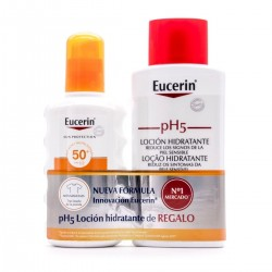 EUCERIN SUN PROTECTION SPF50+ SPRAY FLUIDO 200ML + LOCION HIDRATANTE 200 ML