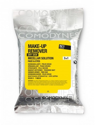 COMODYNES TOALLITAS MAKE-UP REMOVER MICELLAR SOLUTION DRY SKIN 20 TOALLITAS