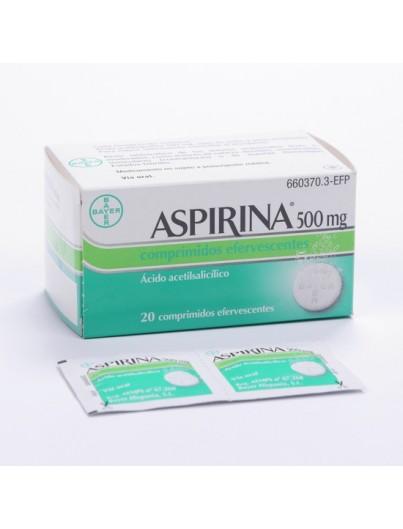 ASPIRINA 500 MG 20 COMP EFERV EFP