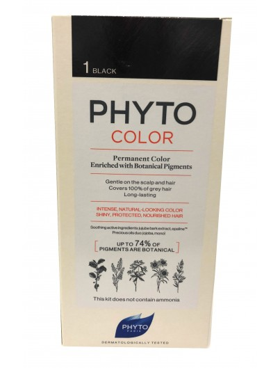 PHYTO PHYTOCOLOR TINTE 1 NEGRO