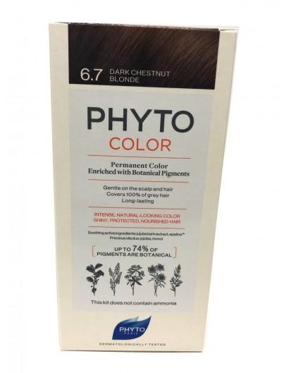 PHYTO PHYTOCOLOR TINTE 6.7 RUBIO OSCURO MARRON