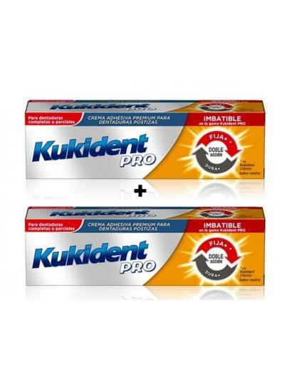 KUKIDENT PRO DOBLE ACCION SABOR NEUTRO DUPLO 40 G + 40 G